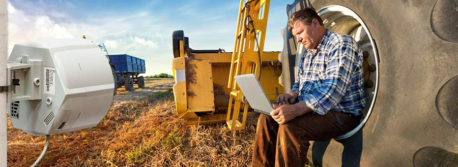4G broadband providing faster internet at a farm