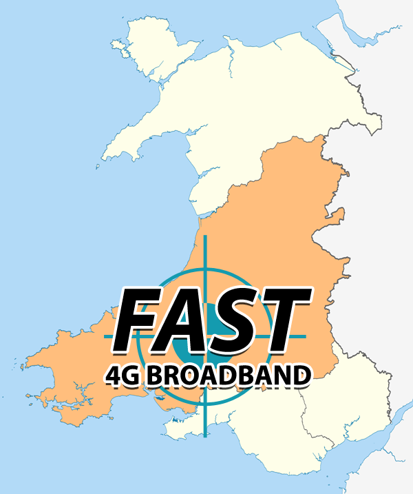 Superfast Broadband in Dyfed Map (West Wales)